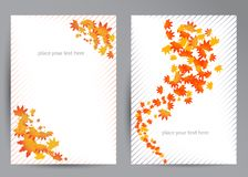 Vector set of colorful autumn Stock Images