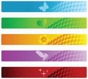 Vector set of colorful banners. Royalty Free Stock Image