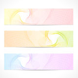 Vector set: Colorful Banners. Curve pattern Stock Image