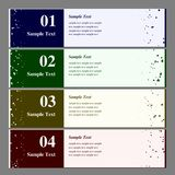 Vector set of colorful banners. Stock Images