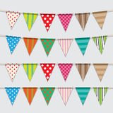Vector set of colorful and bright bunting Stock Image