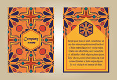 Vector set of colorful brochure templates for business and invitation. Stock Photos