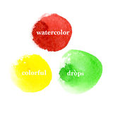 Vector set of colorful brush strokes Royalty Free Stock Photography