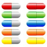 Vector Set of Colorful Capsules Royalty Free Stock Image