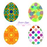 Vector Set Of Colorful Easter Eggs With Decorative Patterns Stock Photo