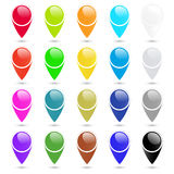 Vector set of colorful Empty  blank labels to indicate on the map Royalty Free Stock Photos