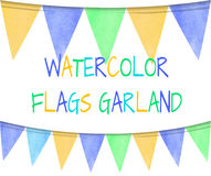 VECTOR set of colorful flags Royalty Free Stock Image