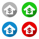 Vector set colorful flat icons bank Stock Images