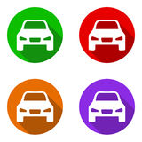 Vector set colorful flat icons car Royalty Free Stock Photo
