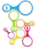 Set of Colorful Frames with Numbers. Vector - Set of Colorful Frames with Numbers Stock Image