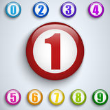 Set of Colorful Frames with Numbers. Vector - Set of Colorful Frames with Numbers Stock Photography