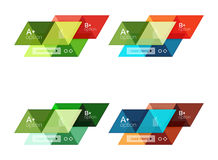 Vector set of colorful geometric infographics. For workflow layout, diagram, number options or navigation web design Royalty Free Stock Image