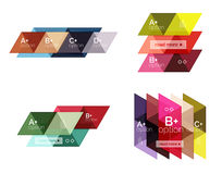 Vector set of colorful geometric infographics. For workflow layout, diagram, number options or navigation web design Stock Photo