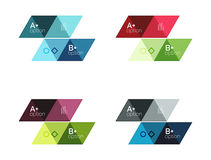 Vector set of colorful geometric infographics. For workflow layout, diagram, number options or navigation web design Stock Photos