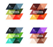 Vector set of colorful geometric infographics. For workflow layout, diagram, number options or navigation web design Royalty Free Stock Photography