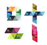 Vector set of colorful geometric infographics Stock Photos
