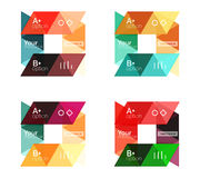 Vector set of colorful geometric infographics Royalty Free Stock Photos