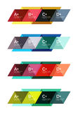 Vector set of colorful geometric infographics. For workflow layout, diagram, number options or navigation web design Stock Image