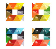 Vector set of colorful geometric infographics Stock Photo
