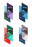 Vector set of colorful geometric infographics Royalty Free Stock Images