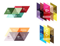 Vector set of colorful geometric infographics Royalty Free Stock Photography