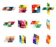 Vector set of colorful geometric infographics Stock Image