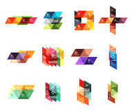 Vector set of colorful geometric infographics Stock Images