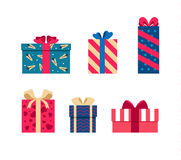 Vector set of colorful gift box symbols Royalty Free Stock Image