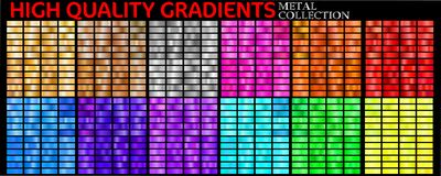 Set of colorful gradients vector illustration
