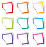 Vector set of colorful icons Stock Images