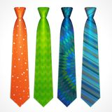 Vector set of colorful neckties Stock Photography