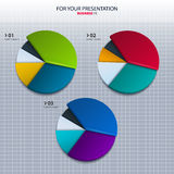 Vector set of colorful pie charts - for your Royalty Free Stock Images