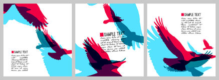 Vector set of colorful rainbow styled crows .Business design templates. vector illustration