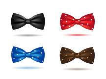 Vector set of colorful realistic bow ties Royalty Free Stock Photography