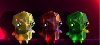 Vector set of colorful baby robots vector illustration