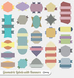 Vector Set: Colorful Ribbon Banners Royalty Free Stock Photo