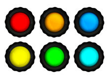 Vector set of colorful round lights Stock Photography