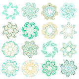 Vector set of colorful round pattern Stock Photography