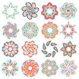 Vector set of colorful round pattern Royalty Free Stock Photo