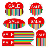 Vector set of colorful sale tags Royalty Free Stock Images