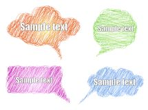 Vector set colorful scribble comic explosion Stock Photo