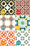 Vector set of colorful seamless geometric patterns Stock Images