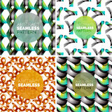 Vector set of colorful seamless geometric patterns. Modern stylish abstract textures. Backgrounds and wallpapers Royalty Free Stock Images