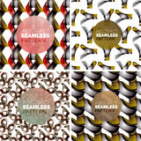 Vector set of colorful seamless geometric patterns Royalty Free Stock Image
