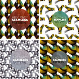 Vector set of colorful seamless geometric patterns. Modern stylish abstract textures. Backgrounds and wallpapers Stock Image