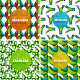 Vector set of colorful seamless geometric patterns. Modern stylish abstract textures. Backgrounds and wallpapers Stock Images