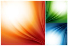 Vector set of colorful silk backgrounds Stock Photography