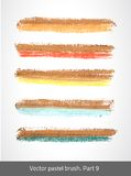 Vector set colorful stroke. Royalty Free Stock Images