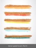 Vector set colorful stroke. Vector pastel brush. Art template. Texture lines. Handmade design. Decorative stroke. Vector artistic brush. Chalk color Royalty Free Illustration