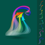 Vector set of colorful twisted  arrows. Stock Photo